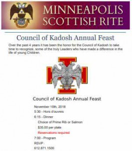Council of Kadosh Annual Feast - Nov 11-2018 rev1