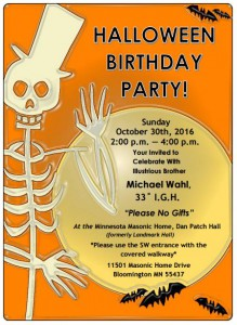 Happy Halloween Birthday - Mike Wahl Flyer