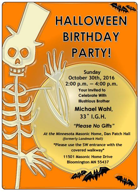 Happy Halloween Birthday – Mike Wahl Flyer