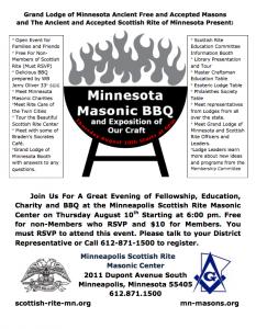 2017 MN Masonic BBQ flyer