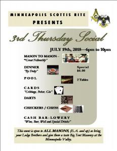 Soical Event - 3rd Thursday - (7-19-18)