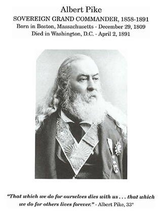Sovereign Grand Commander Albert Pike, 33°