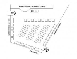 Scottish Rite Fair 2014 Booth Map