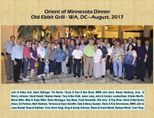 MN Dinner - Old Ebbit Grill - Group Picture (8-2017)