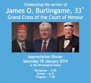 Celebrating James O. Burlingame, 33° G.C.
